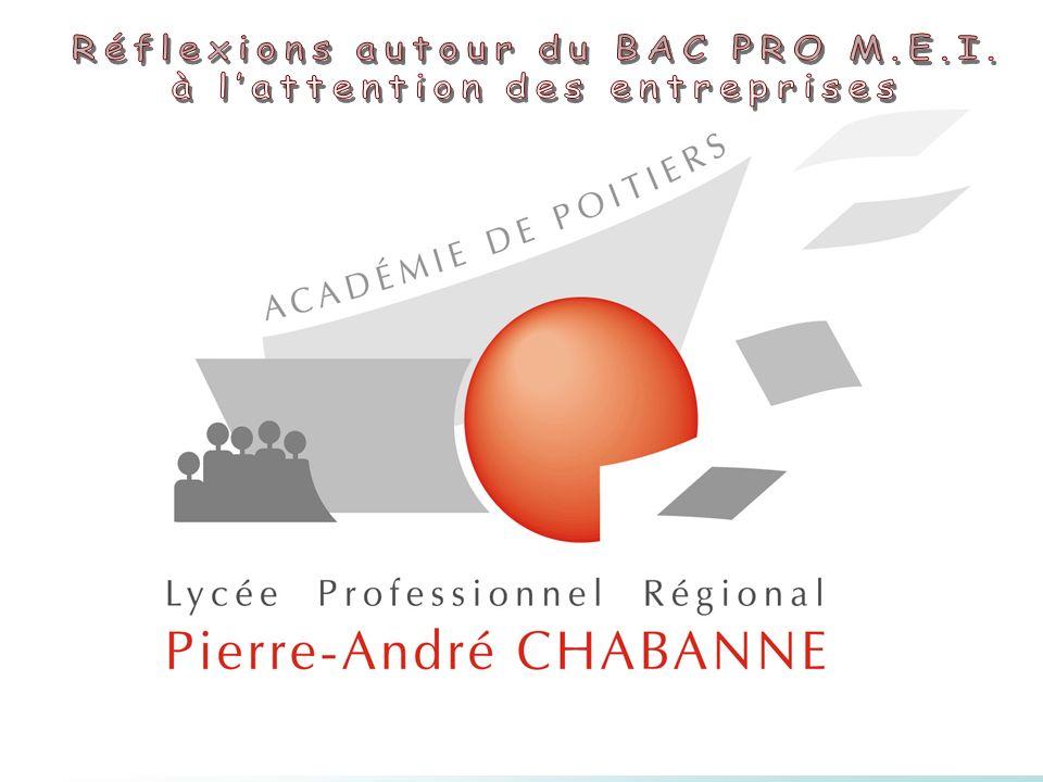 Réflexions autour du BAC PRO M.E.I. à l'attention des entreprises