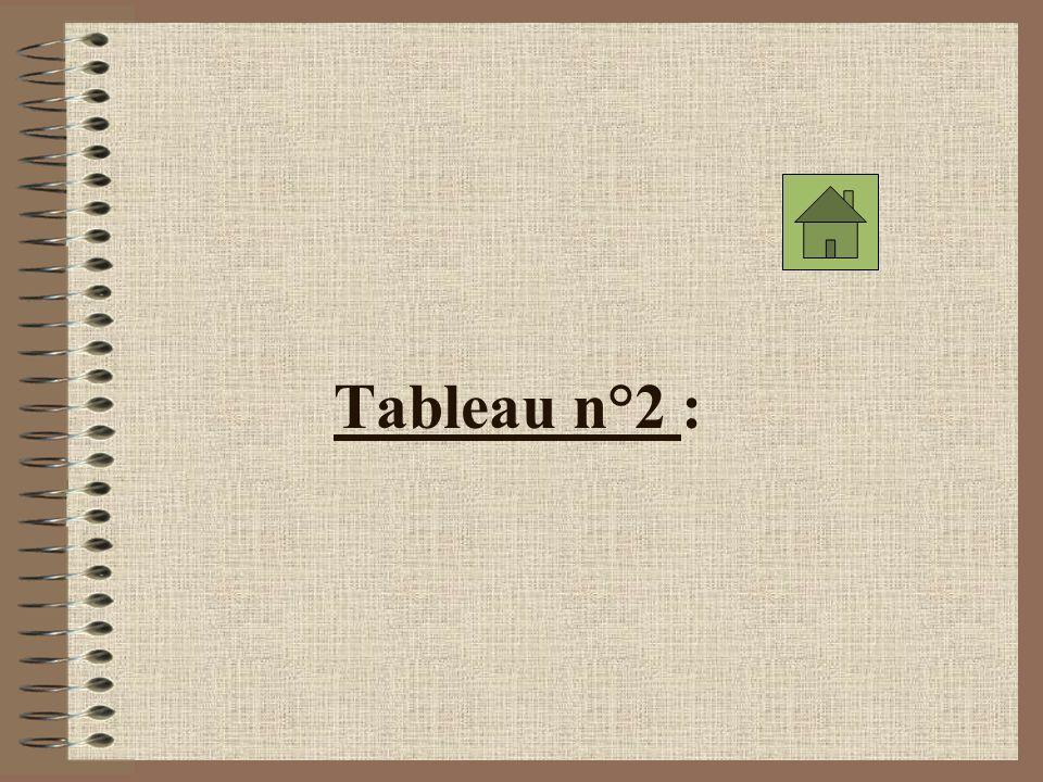 Tableau n°2 :
