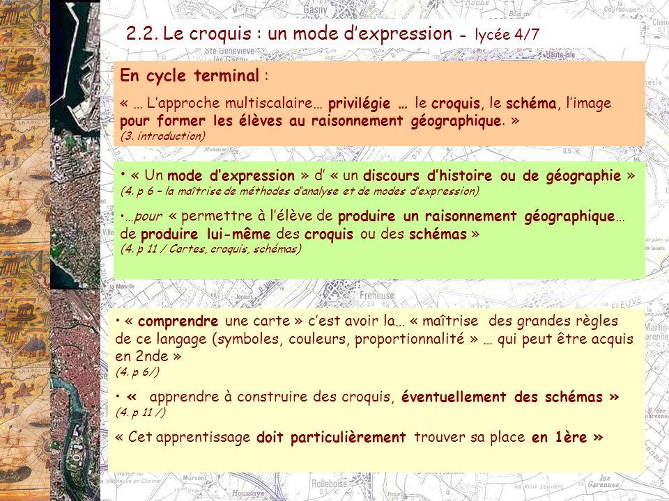 2.2. Le croquis : un mode d'expression - lycée 4/7