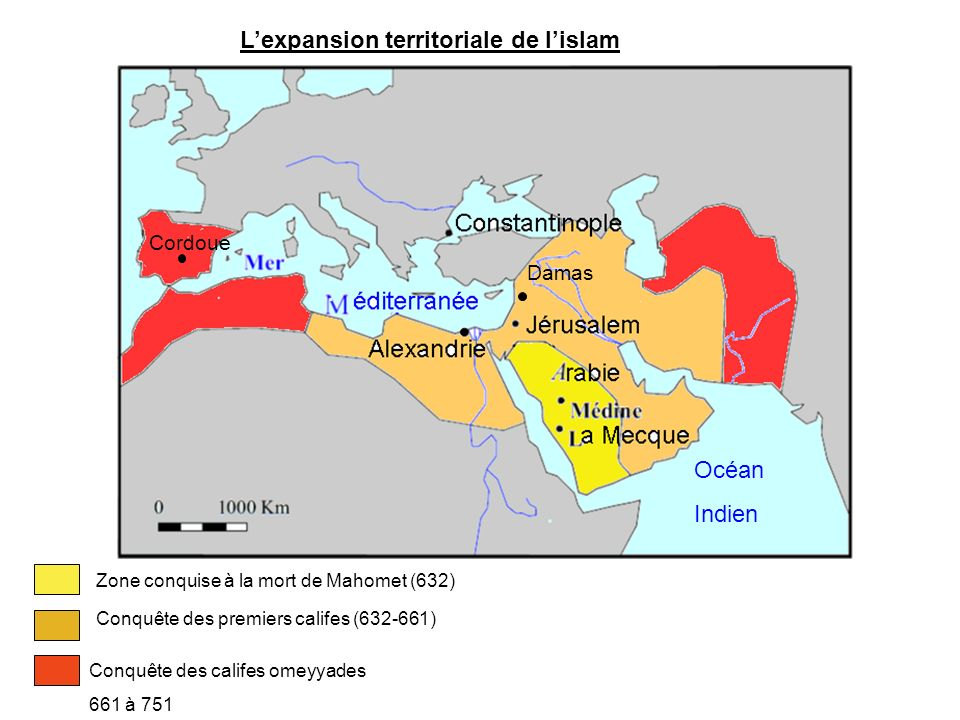 L'expansion territoriale de l'islam
