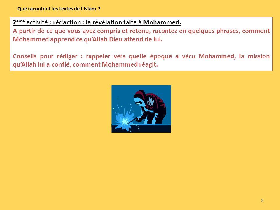 Que racontent les textes de l'islam