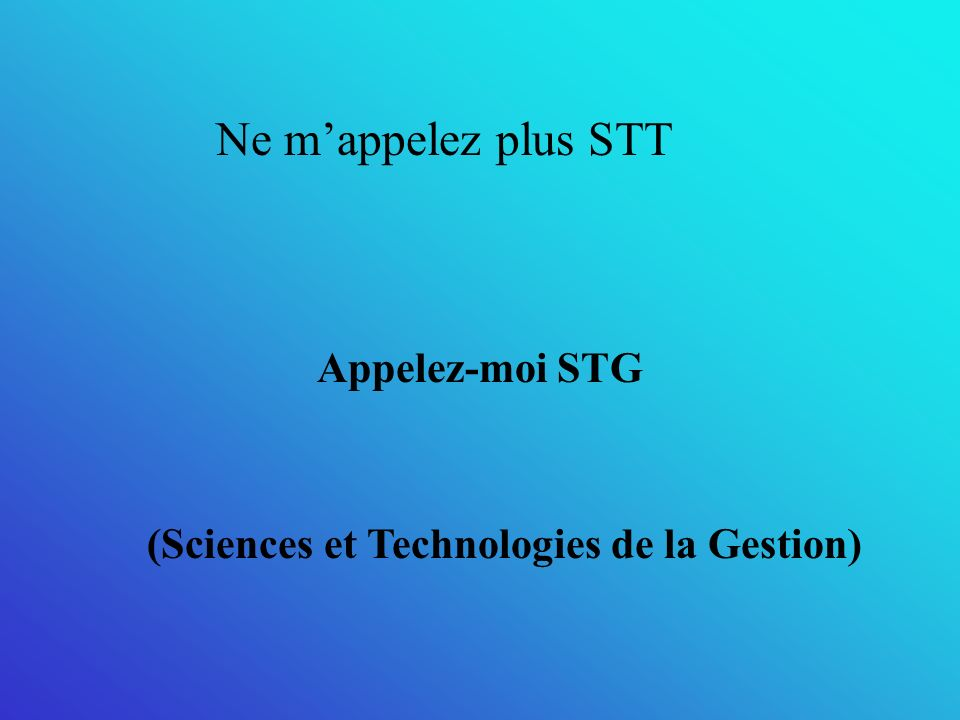 (Sciences et Technologies de la Gestion)