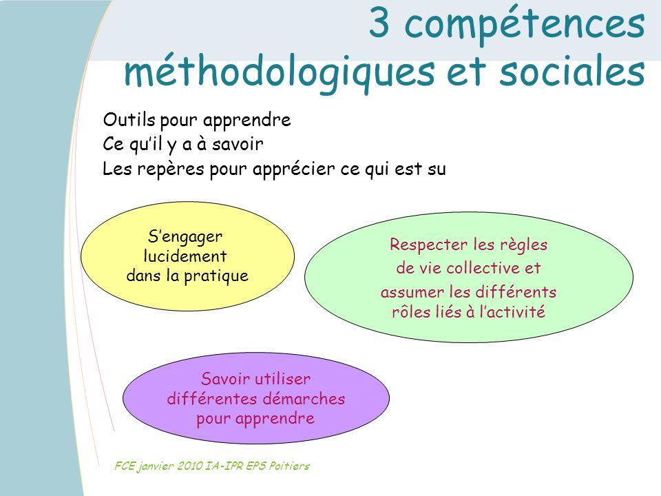 3 compétences méthodologiques et sociales
