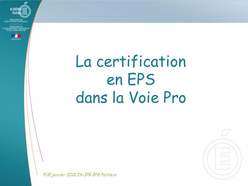 La certification en EPS dans la Voie Pro