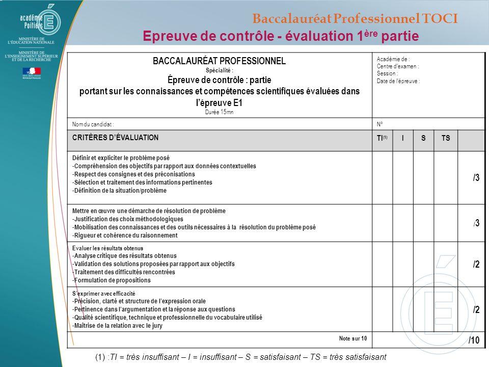 Baccalauréat Professionnel TOCI BACCALAURÉAT PROFESSIONNEL
