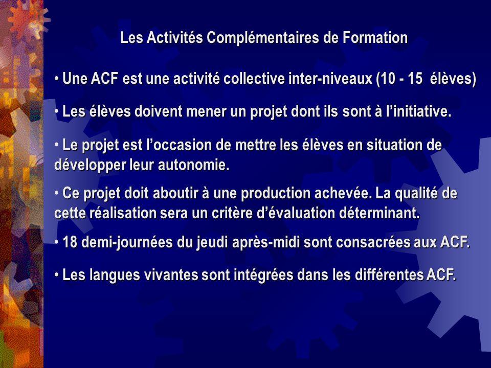 Les Activités Complémentaires de Formation