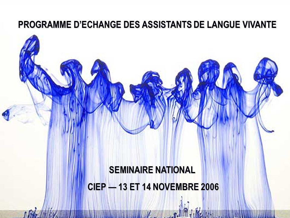 PROGRAMME D'ECHANGE DES ASSISTANTS DE LANGUE VIVANTE