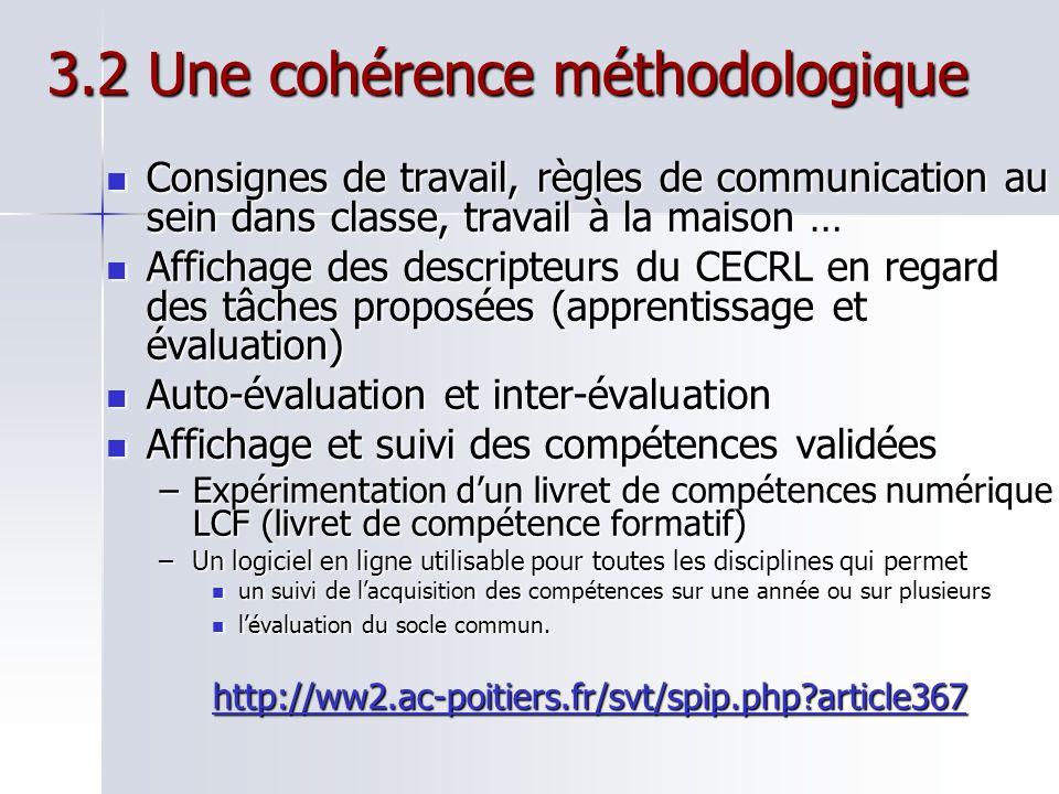 3.2 Une cohérence méthodologique