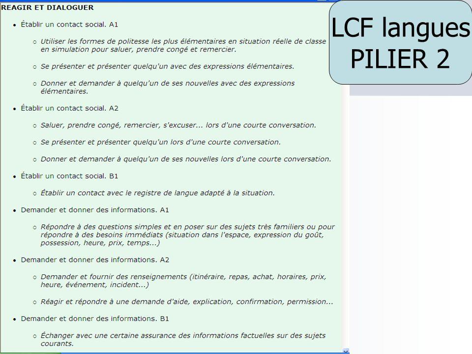 LCF langues PILIER 2