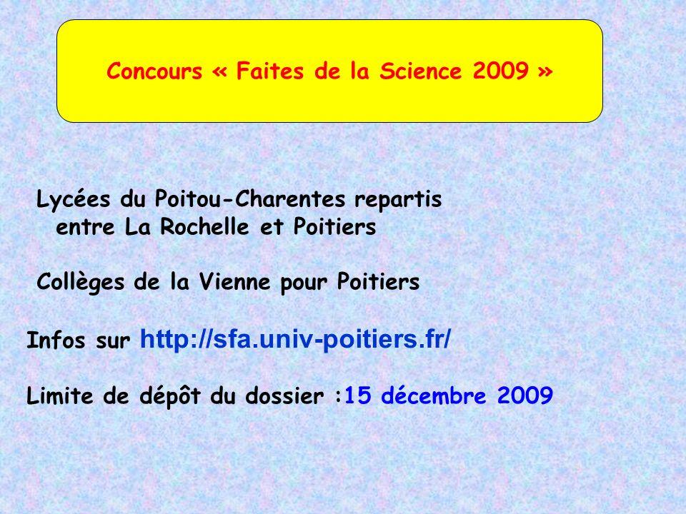 Concours « Faites de la Science 2009 »