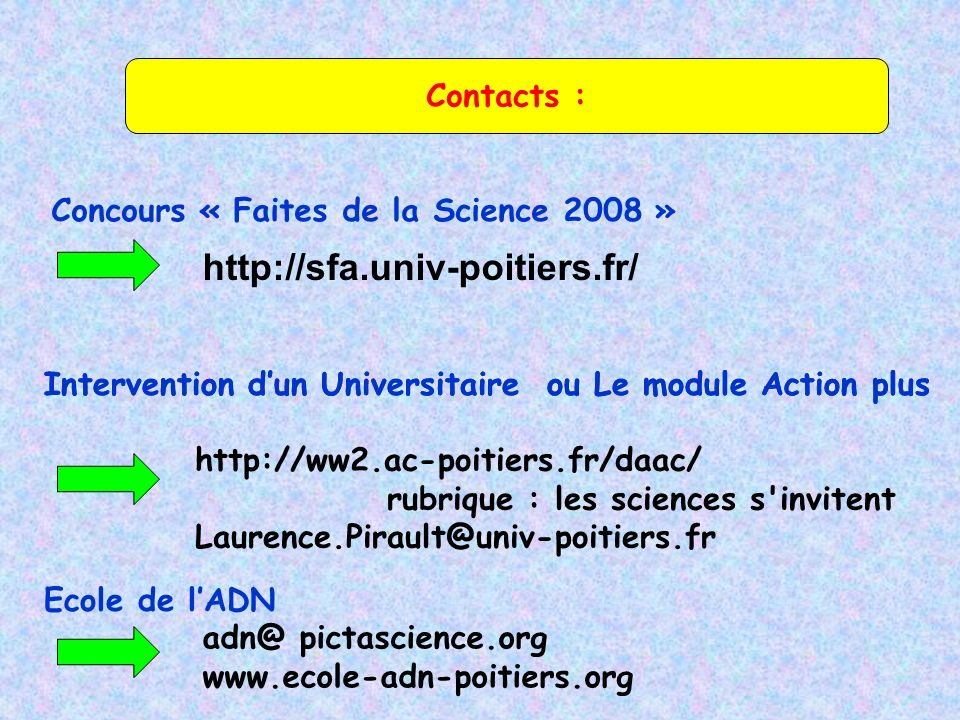 http://sfa.univ-poitiers.fr/ Contacts :