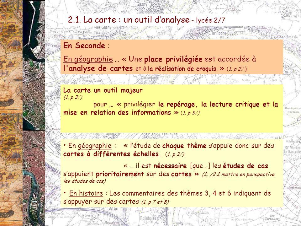 2.1. La carte : un outil d'analyse - lycée 2/7