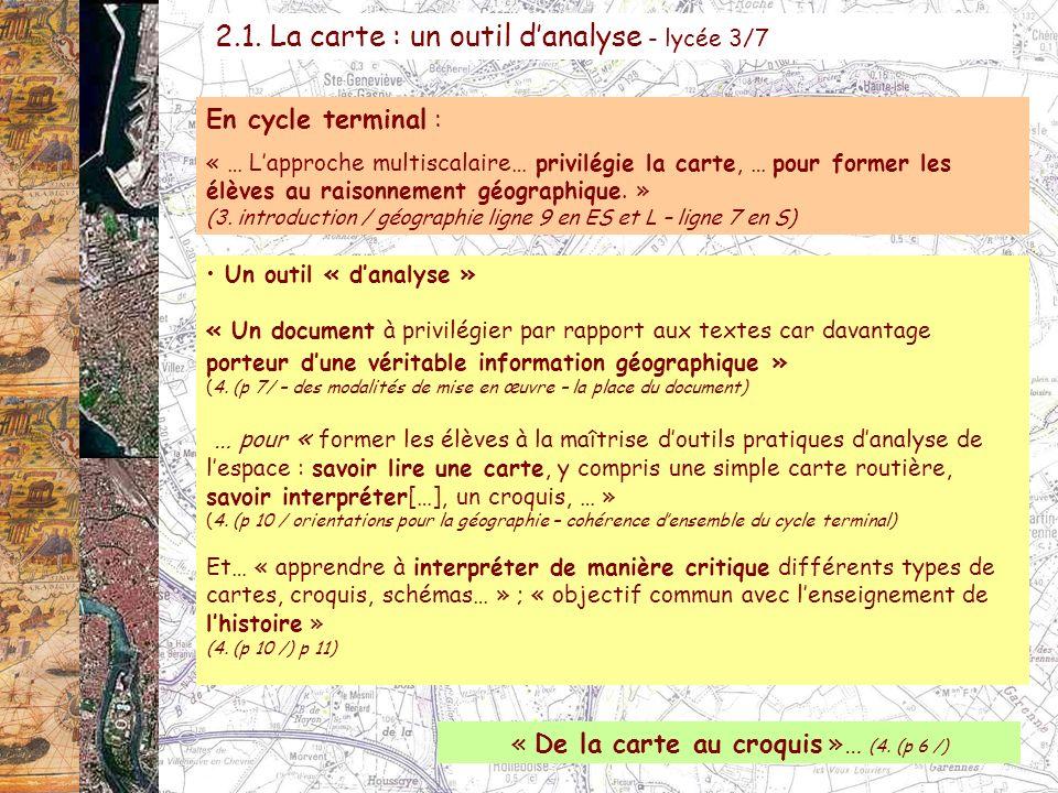 « De la carte au croquis »… (4. (p 6 /)