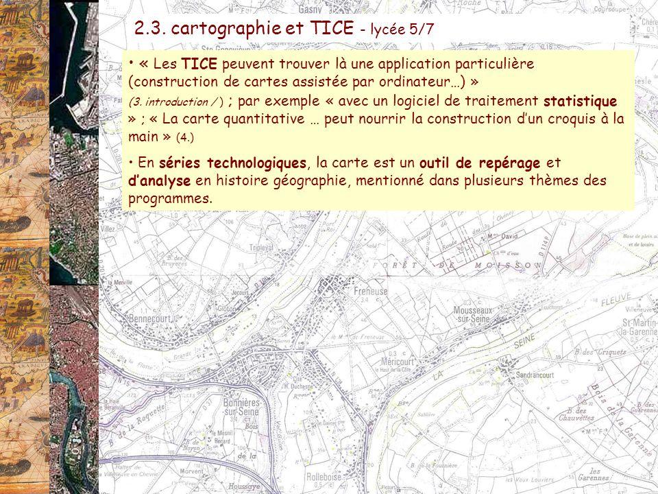2.3. cartographie et TICE - lycée 5/7