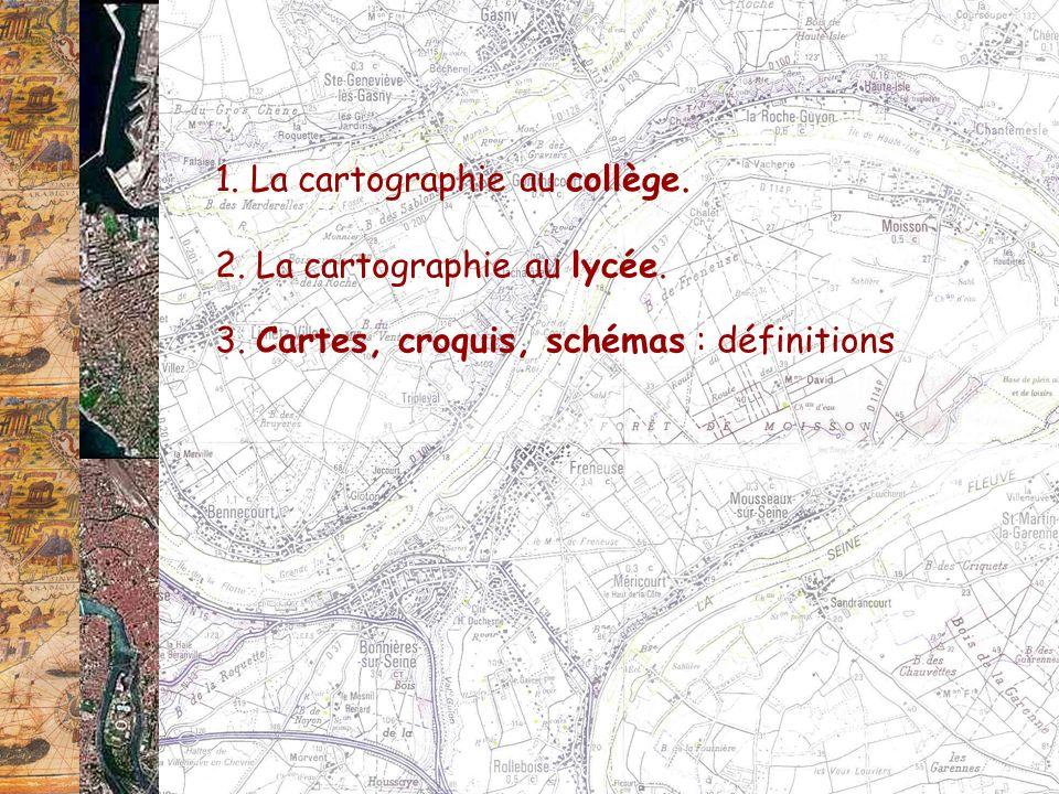 1. La cartographie au collège.