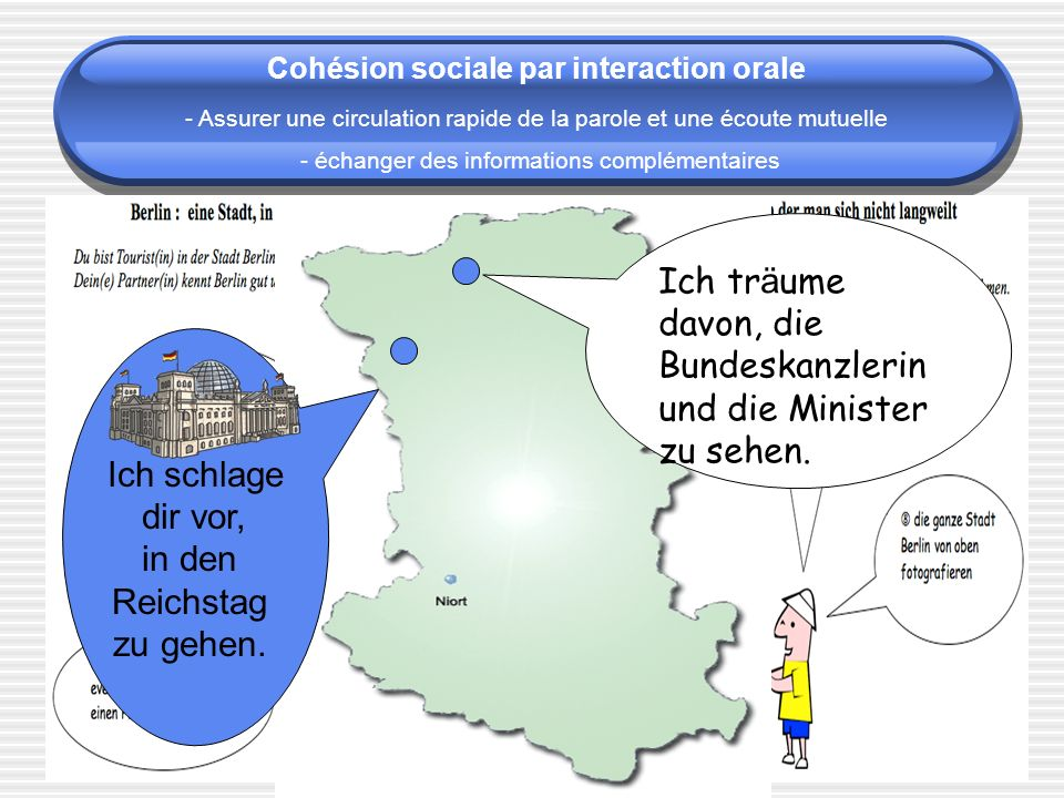 Cohésion sociale par interaction orale