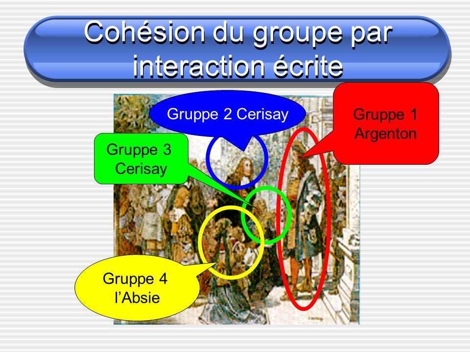 Cohésion du groupe par interaction écrite