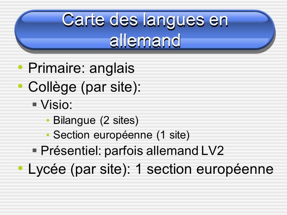Carte des langues en allemand
