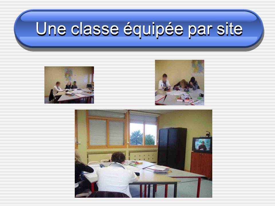 Une classe équipée par site