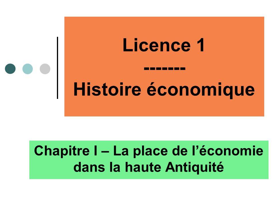 Licence 1 ------- Histoire économique