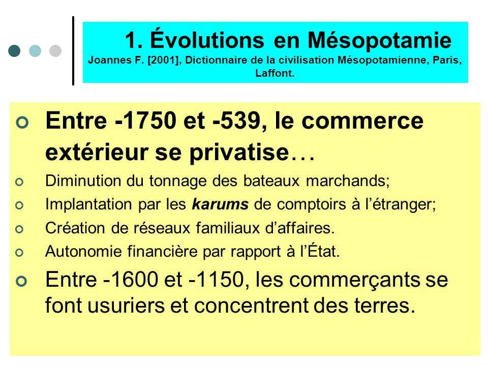 Entre -1750 et -539, le commerce extérieur se privatise…