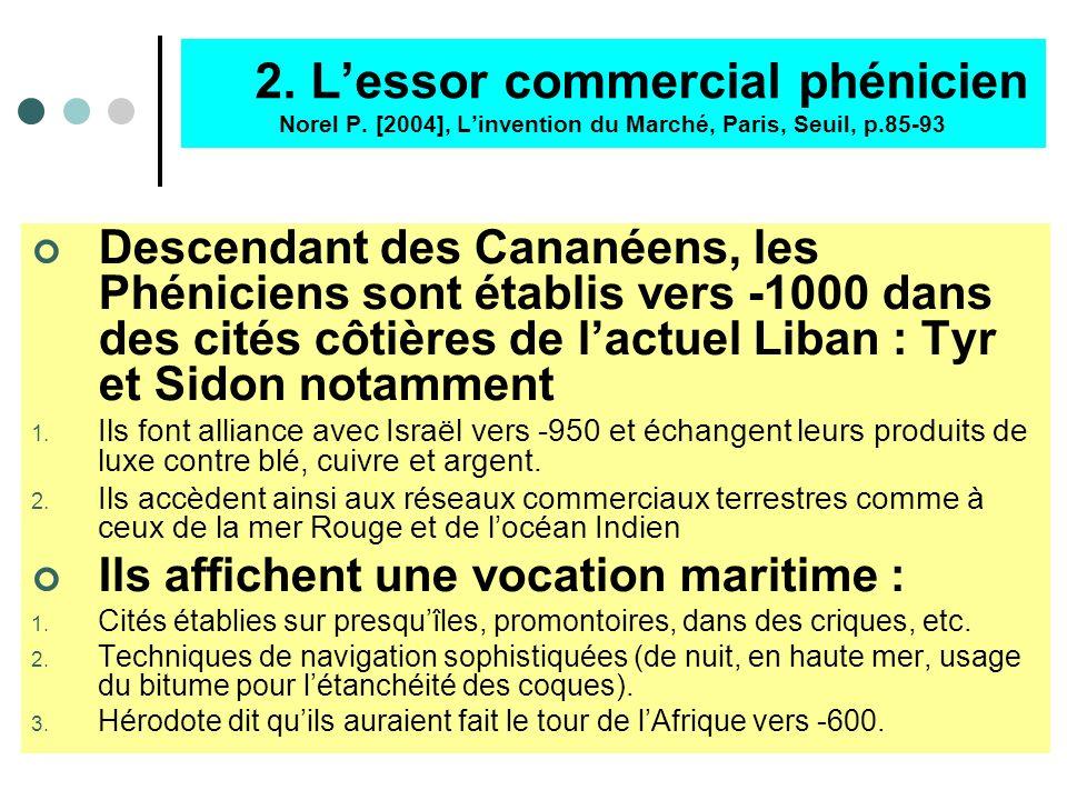 2. L'essor commercial phénicien Norel P