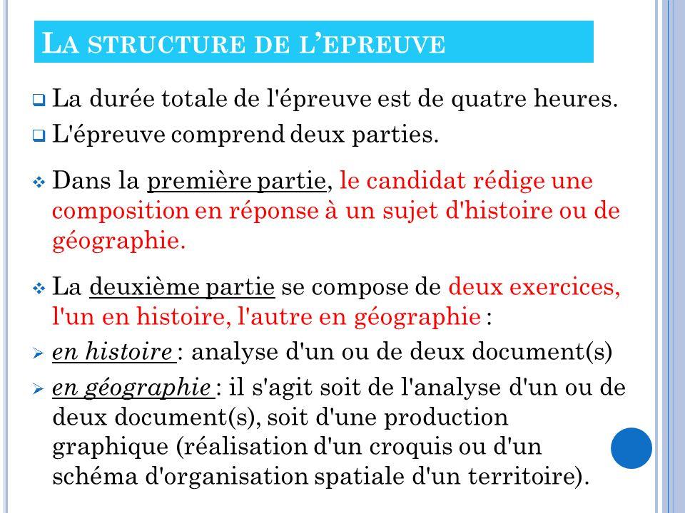 La structure de l'epreuve