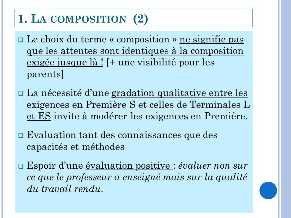 1. La composition (2)