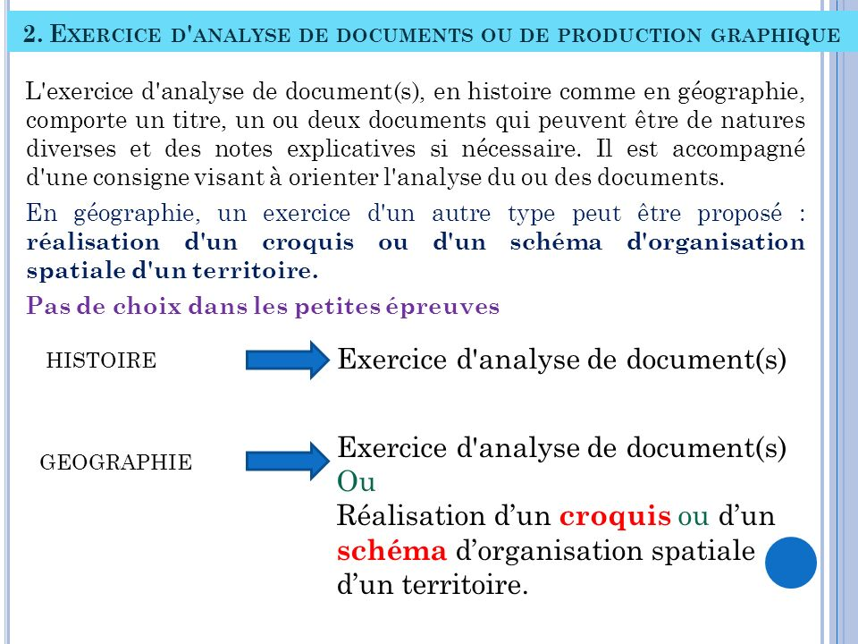 2. Exercice d analyse de documents ou de production graphique