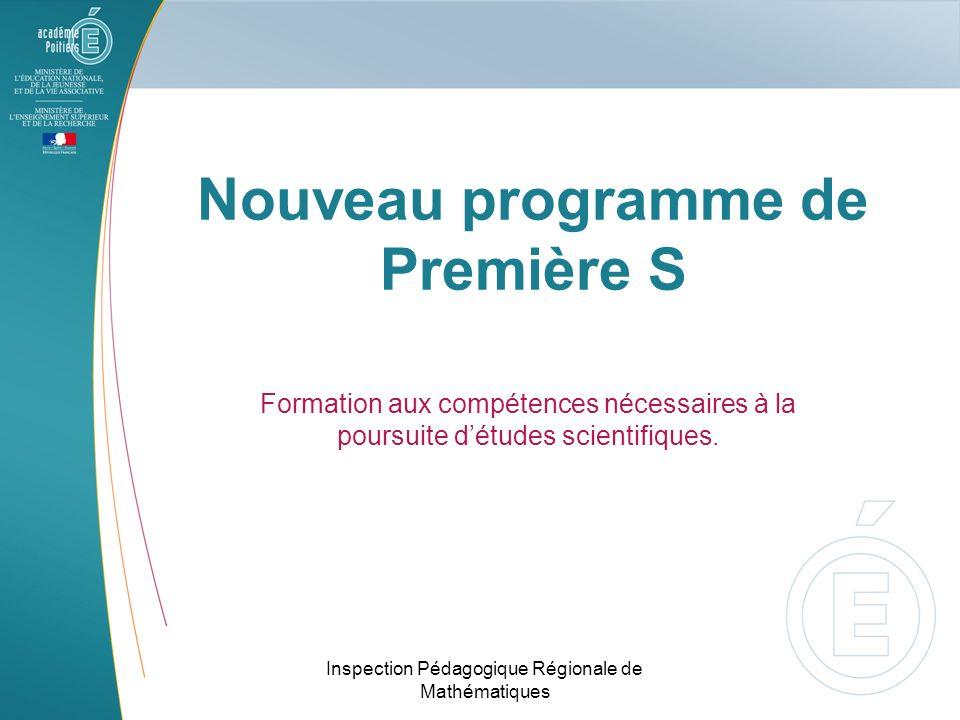 Nouveau programme de Première S