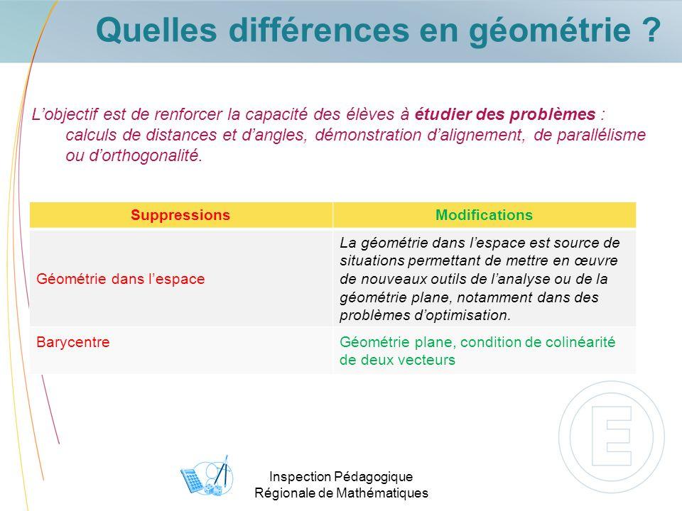 Quelles différences en géométrie
