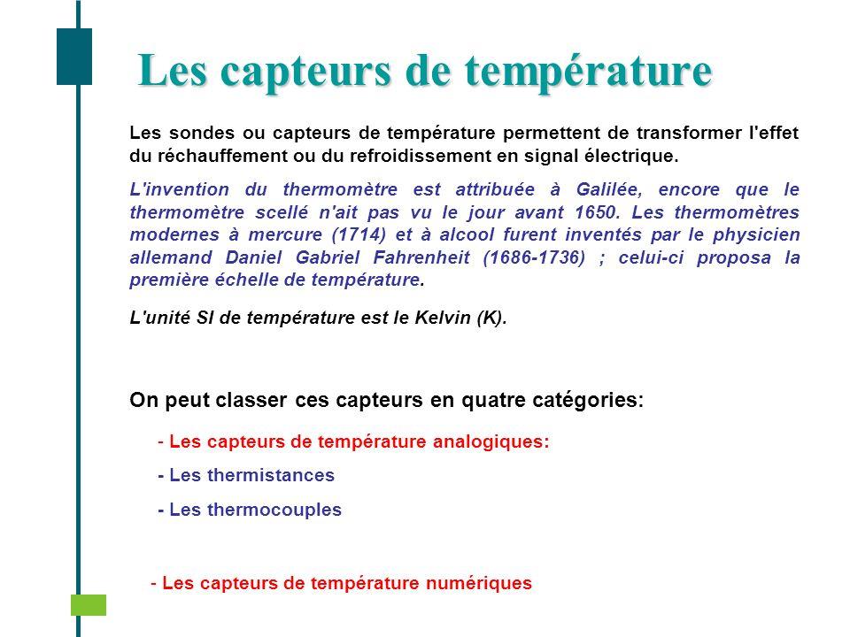 Les capteurs de température