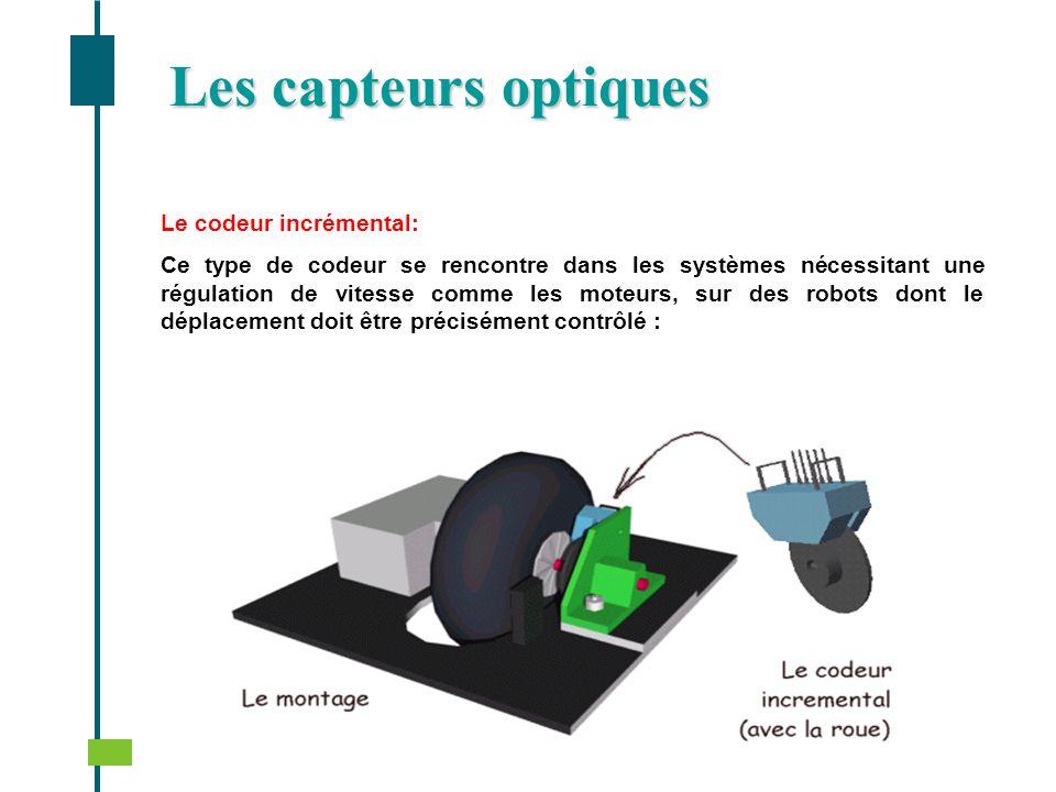 Les capteurs optiques Le codeur incrémental: