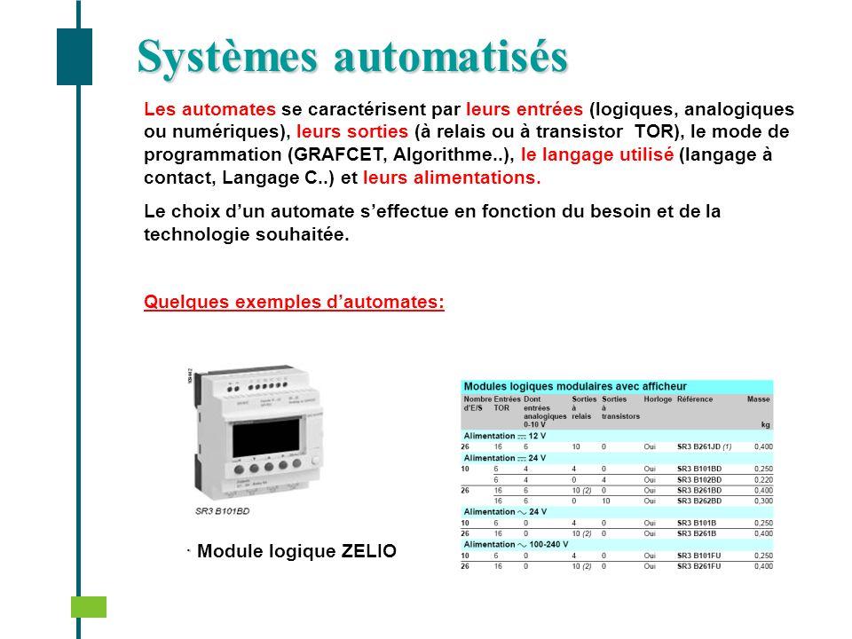 Systèmes automatisés · Module logique ZELIO