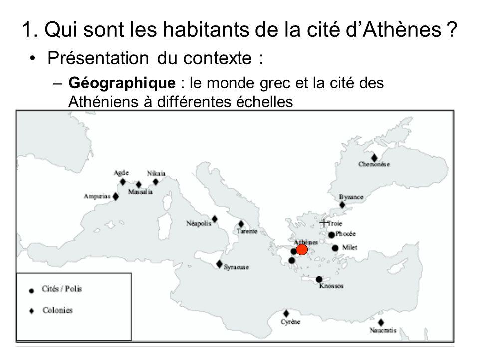 1. Qui sont les habitants de la cité d'Athènes