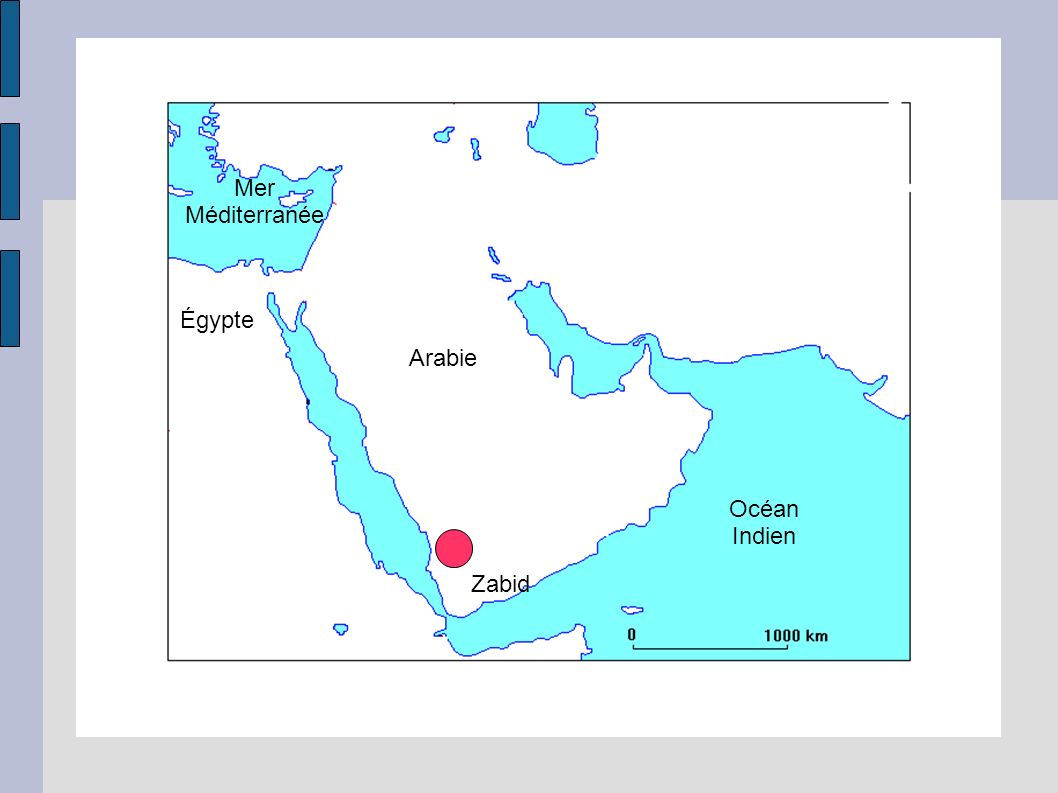 Mer Méditerranée Égypte Arabie Océan Indien Zabid