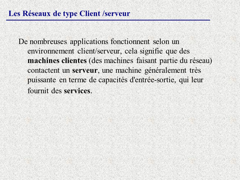 Les Réseaux de type Client /serveur