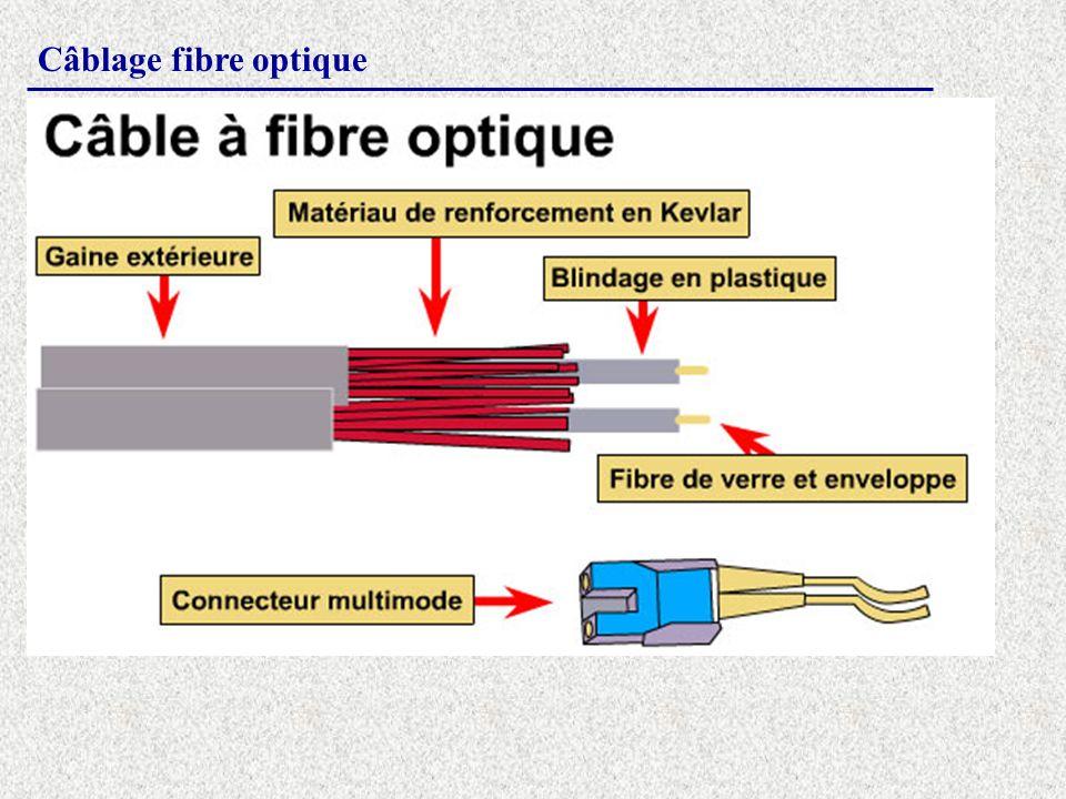 Câblage fibre optique
