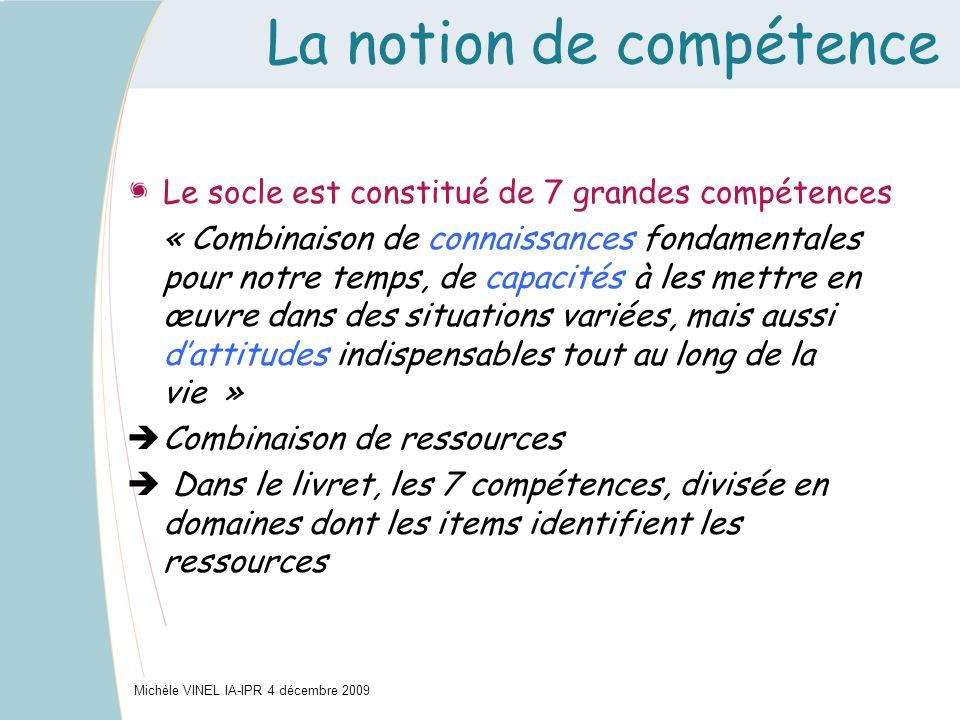 La notion de compétence