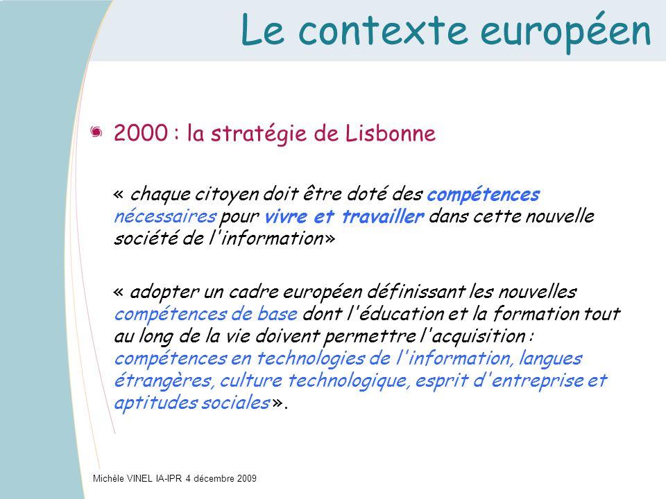 Le contexte européen 2000 : la stratégie de Lisbonne