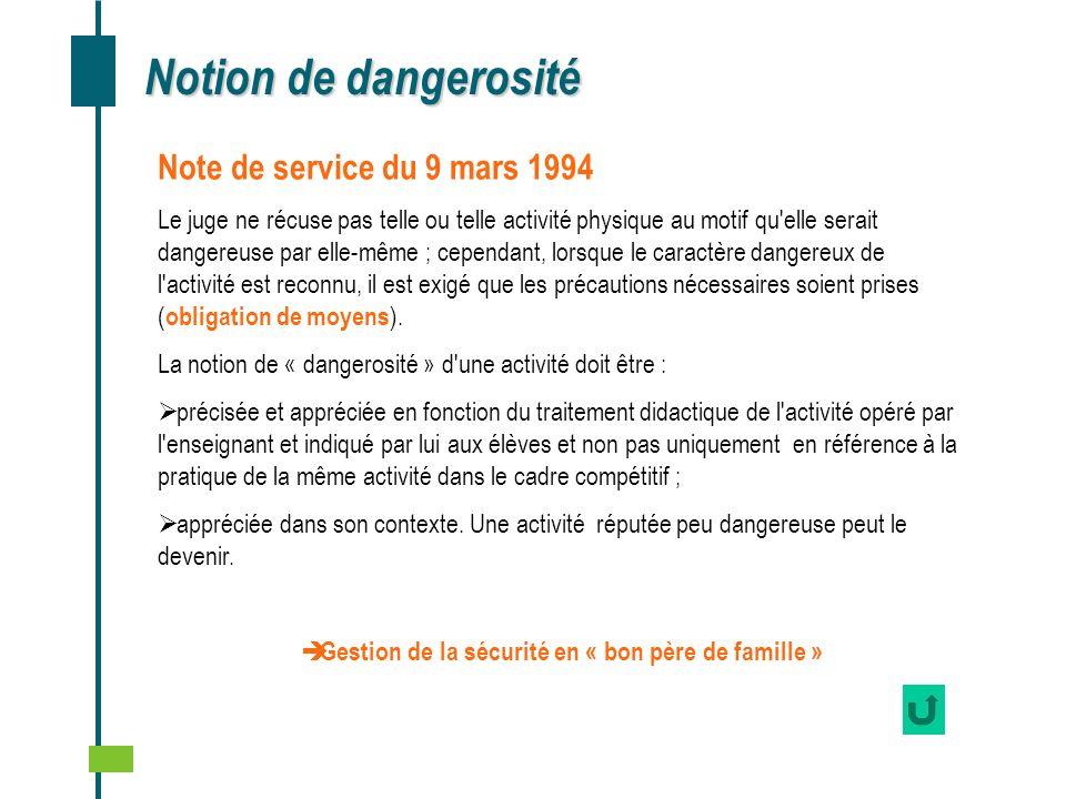 Gestion de la sécurité en « bon père de famille »