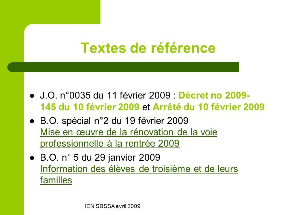 Textes de référenceJ.O. n°0035 du 11 février 2009 : Décret no 2009-145 du 10 février 2009 et Arrêté du 10 février 2009.