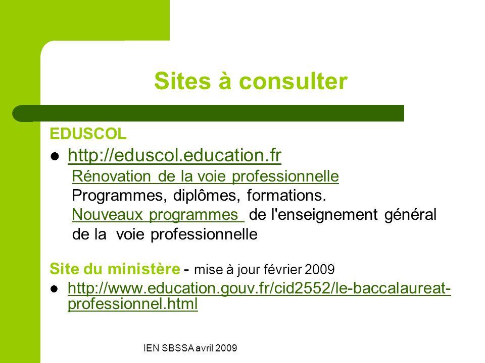 Sites à consulter http://eduscol.education.fr EDUSCOL