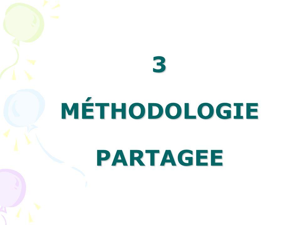 3 MÉTHODOLOGIE PARTAGEE