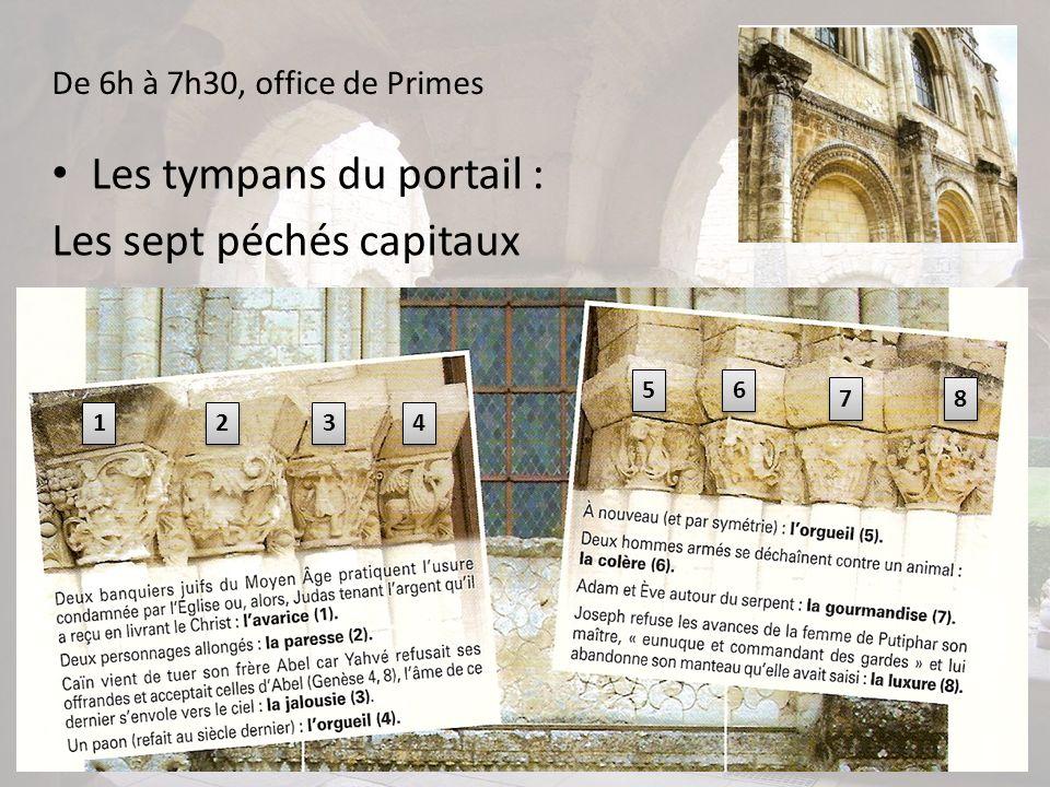 Les tympans du portail : Les sept péchés capitaux