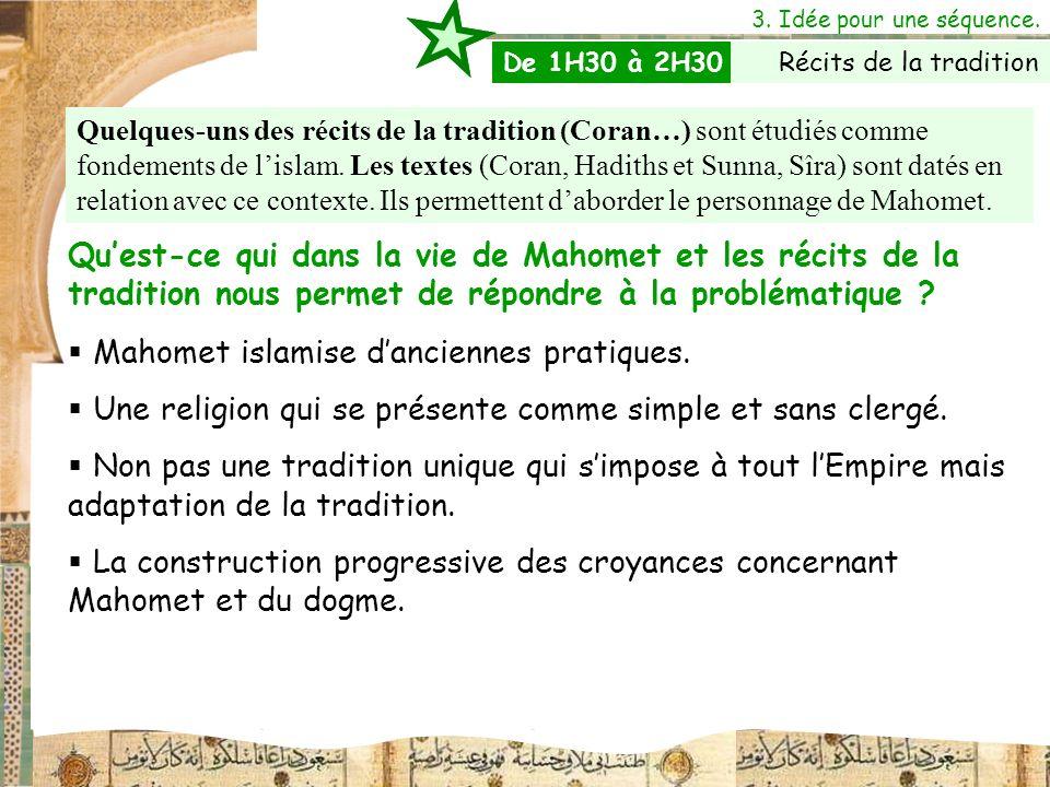 Mahomet islamise d'anciennes pratiques.