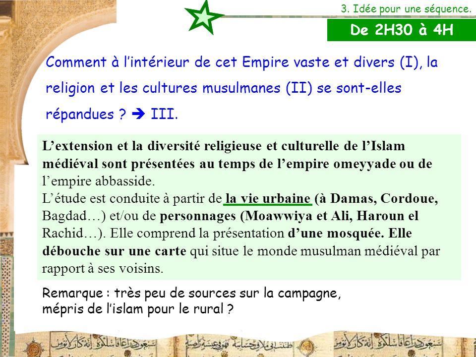 L'extension et la diversité religieuse et culturelle de l'Islam