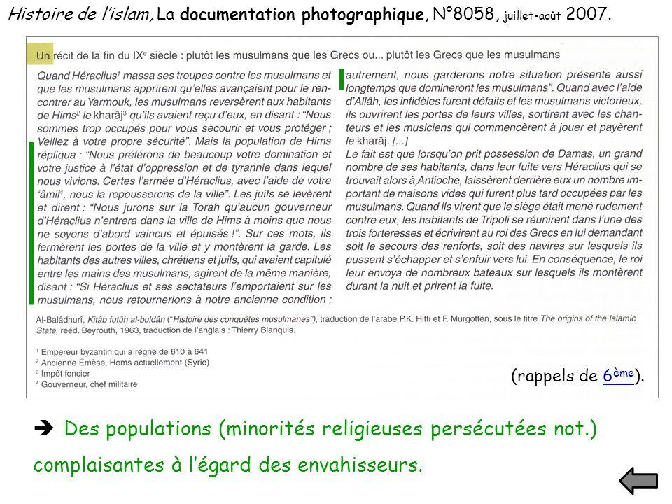 Histoire de l'islam, La documentation photographique, N°8058, juillet-août 2007.