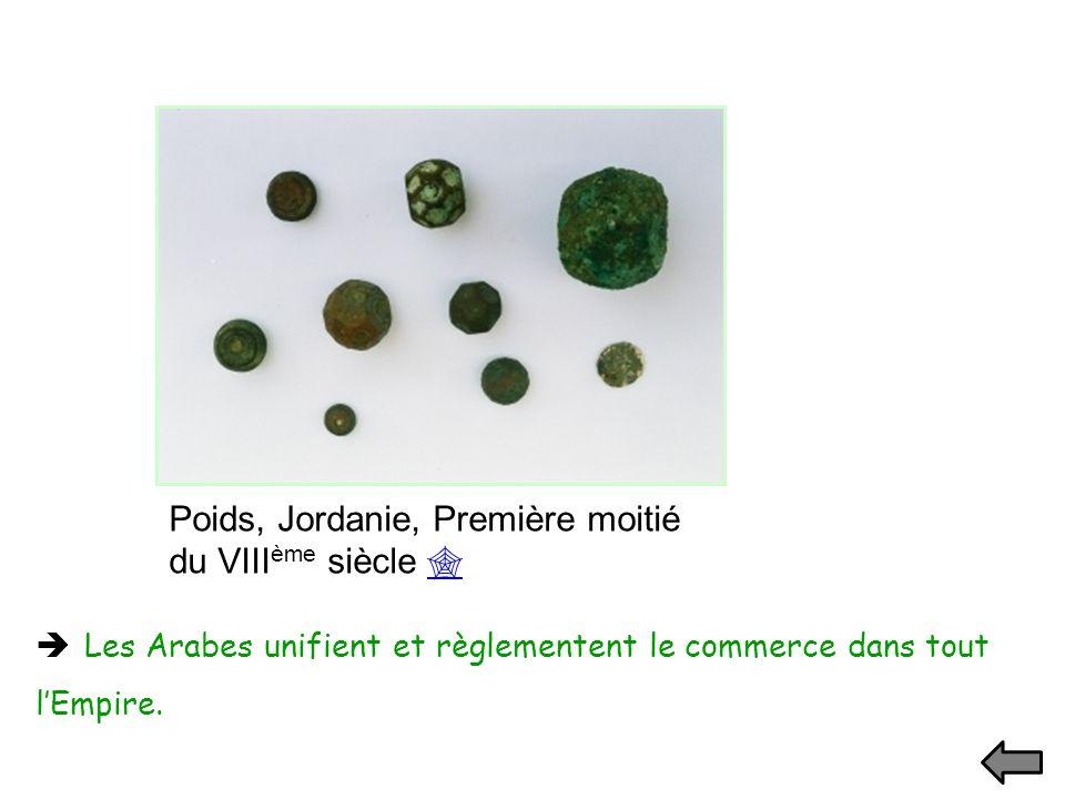 Poids, Jordanie, Première moitié du VIIIème siècle 