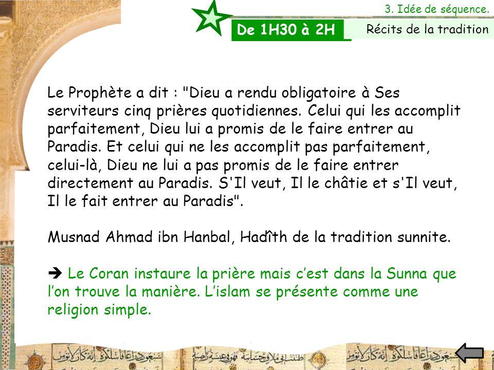 Musnad Ahmad ibn Hanbal, Hadîth de la tradition sunnite.